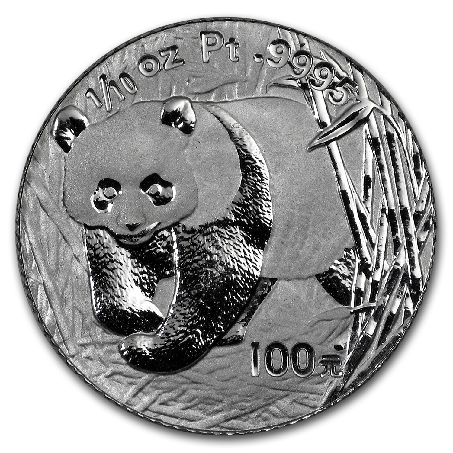 2002 1/10 oz Proof Platinum Chinese Panda (w/Box & COA)