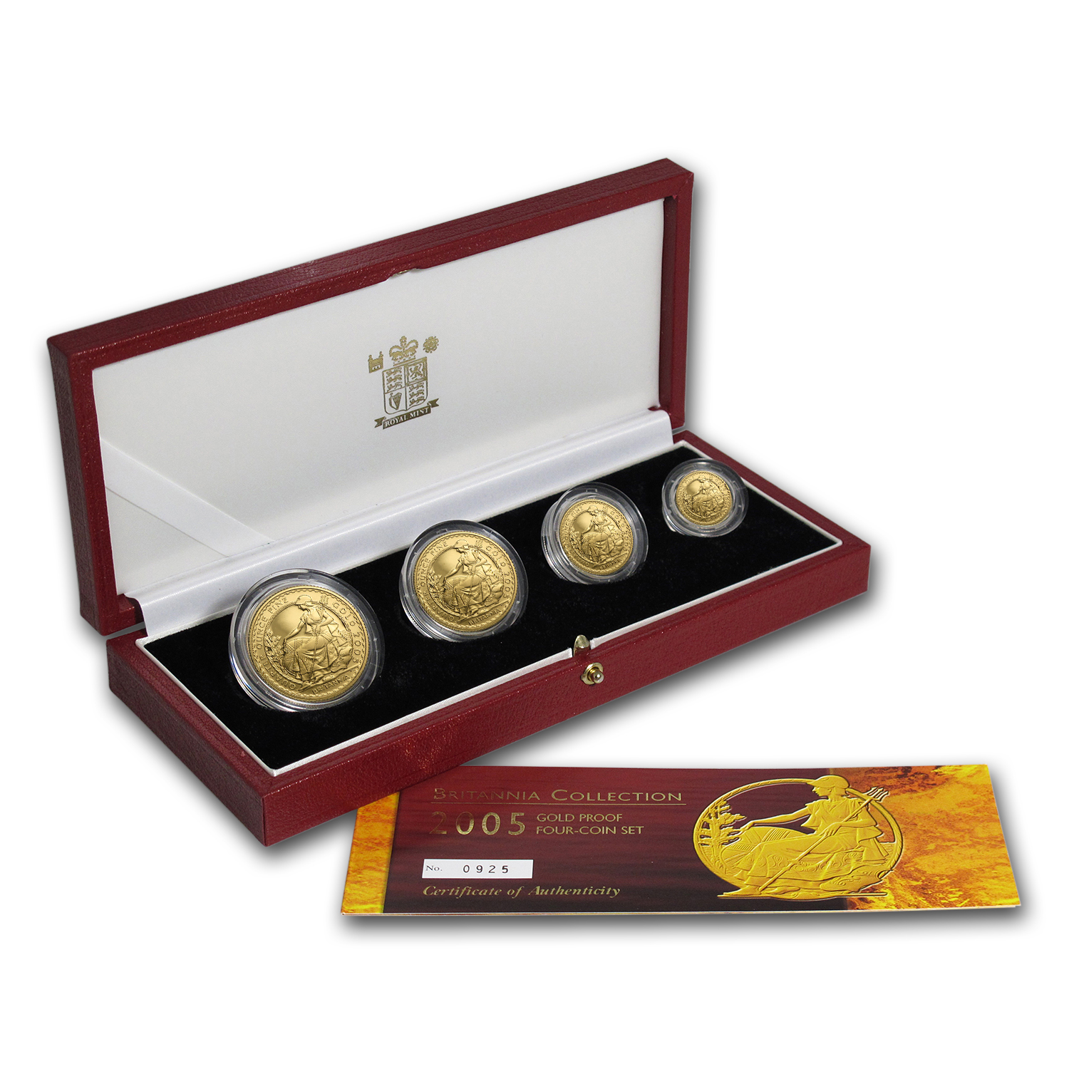 2005 4-Coin Gold Britannia Proof Set (w/Box & COA)