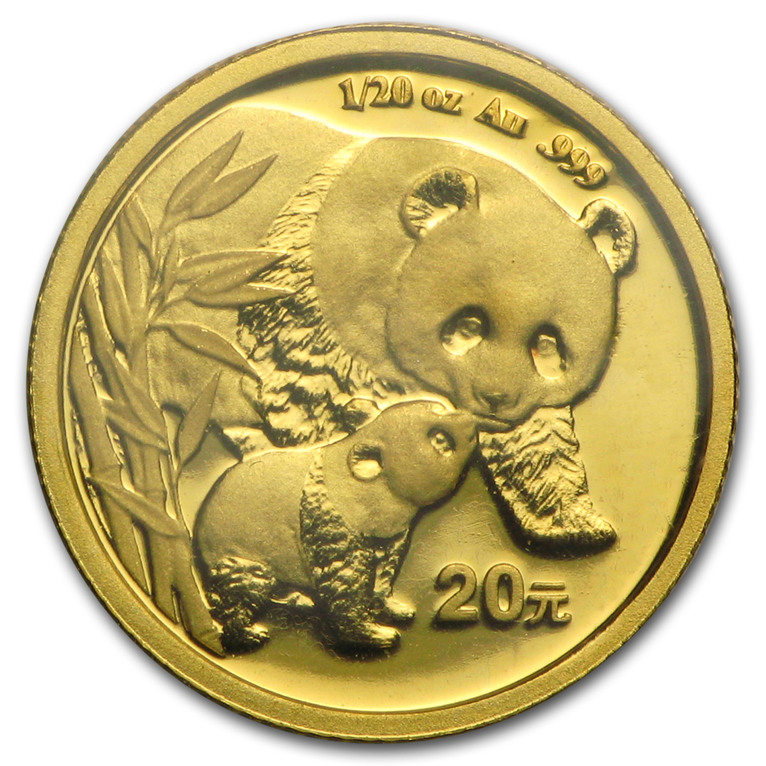 2004 China 1/20 oz Gold Panda BU (Sealed)