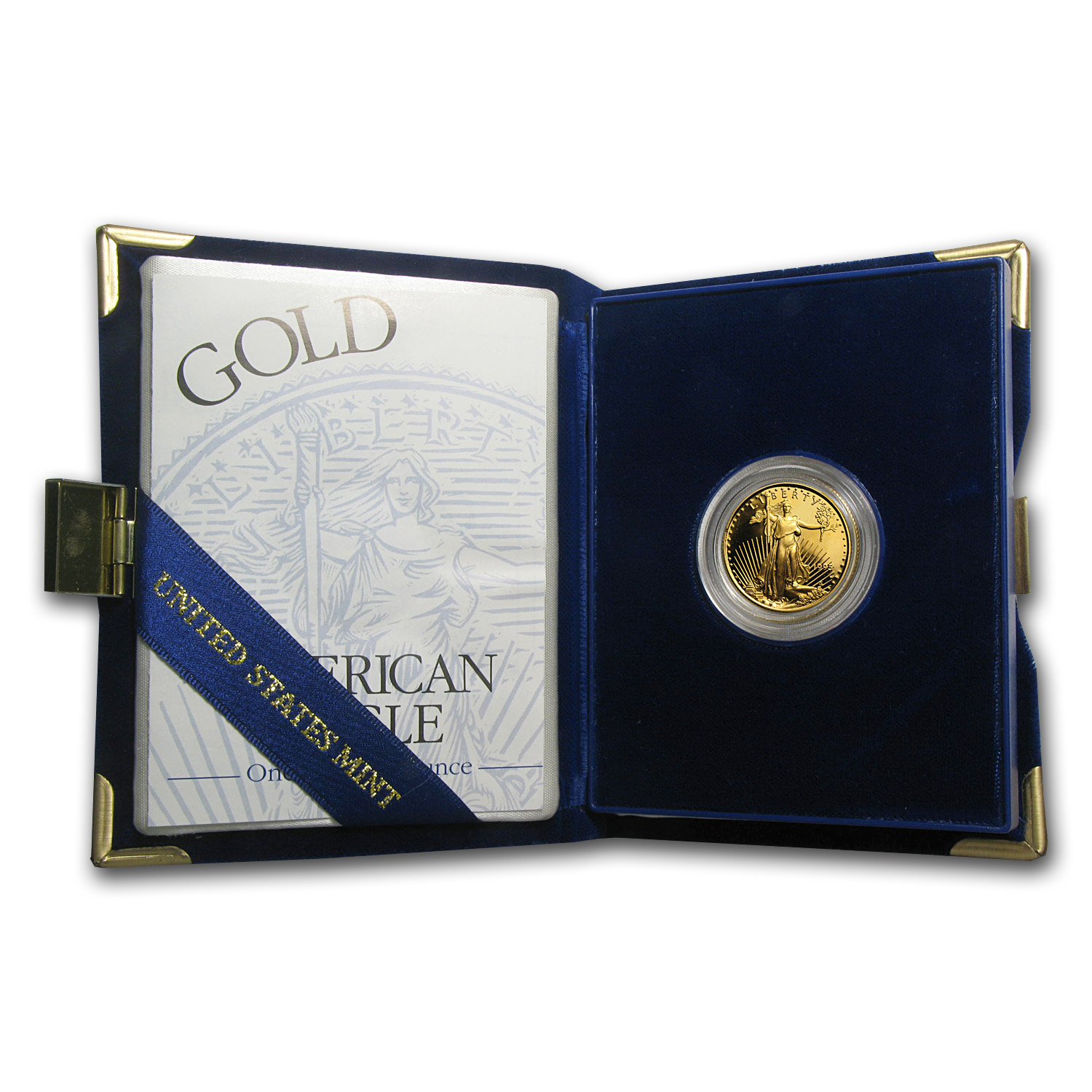 1995-W 1/4 oz Proof Gold American Eagle (w/Box & COA)