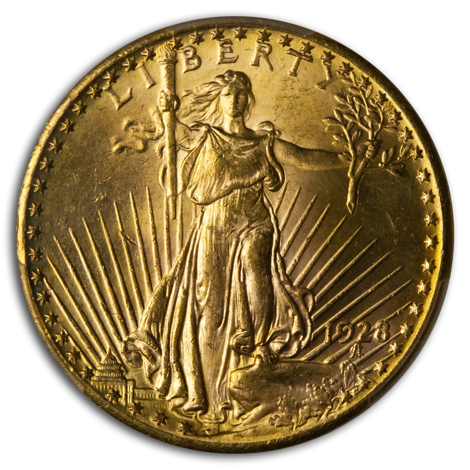 1928 $20 St. Gaudens Gold Double Eagle MS-64 PCGS