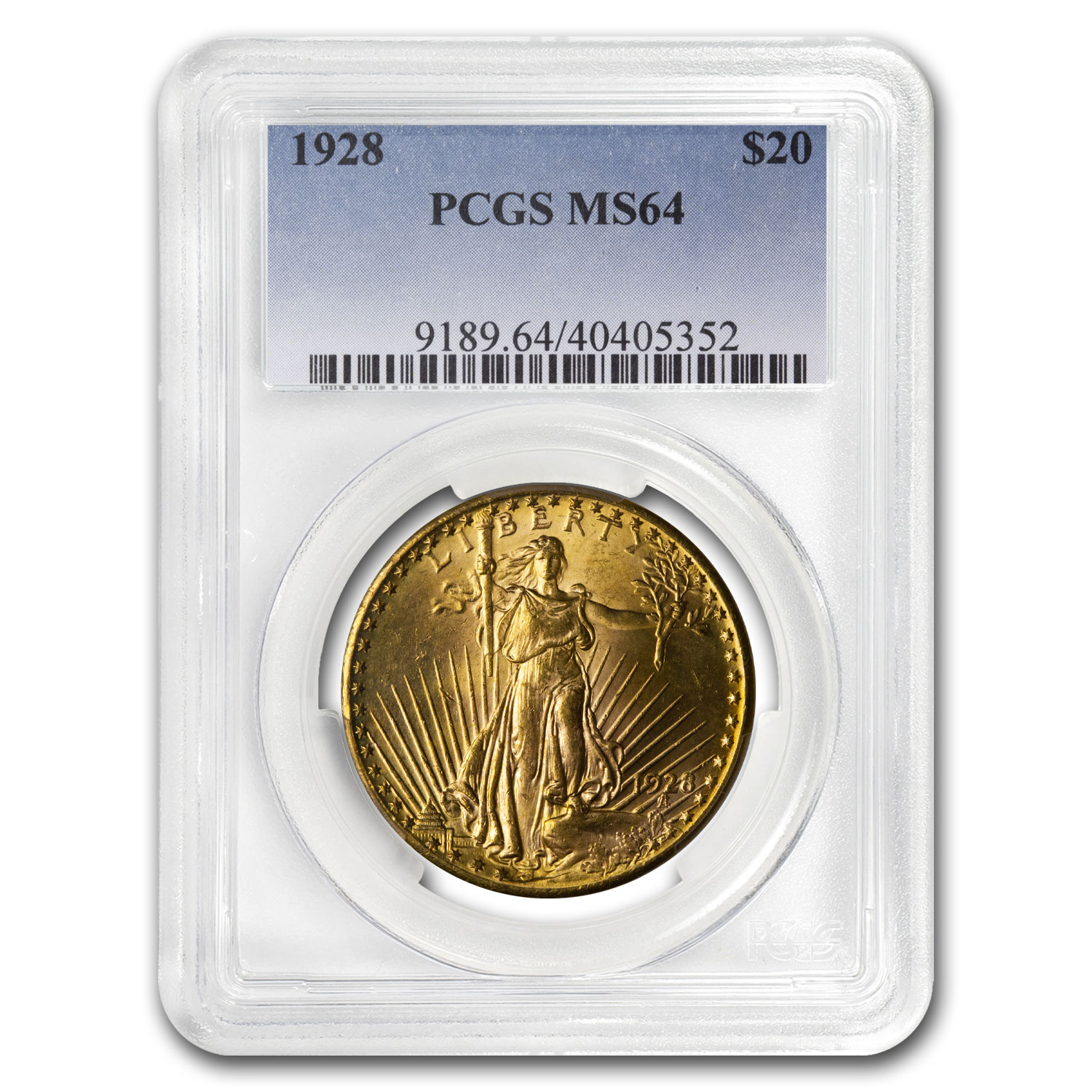 1928 $20 St. Gaudens Gold Double Eagle - MS-64 PCGS