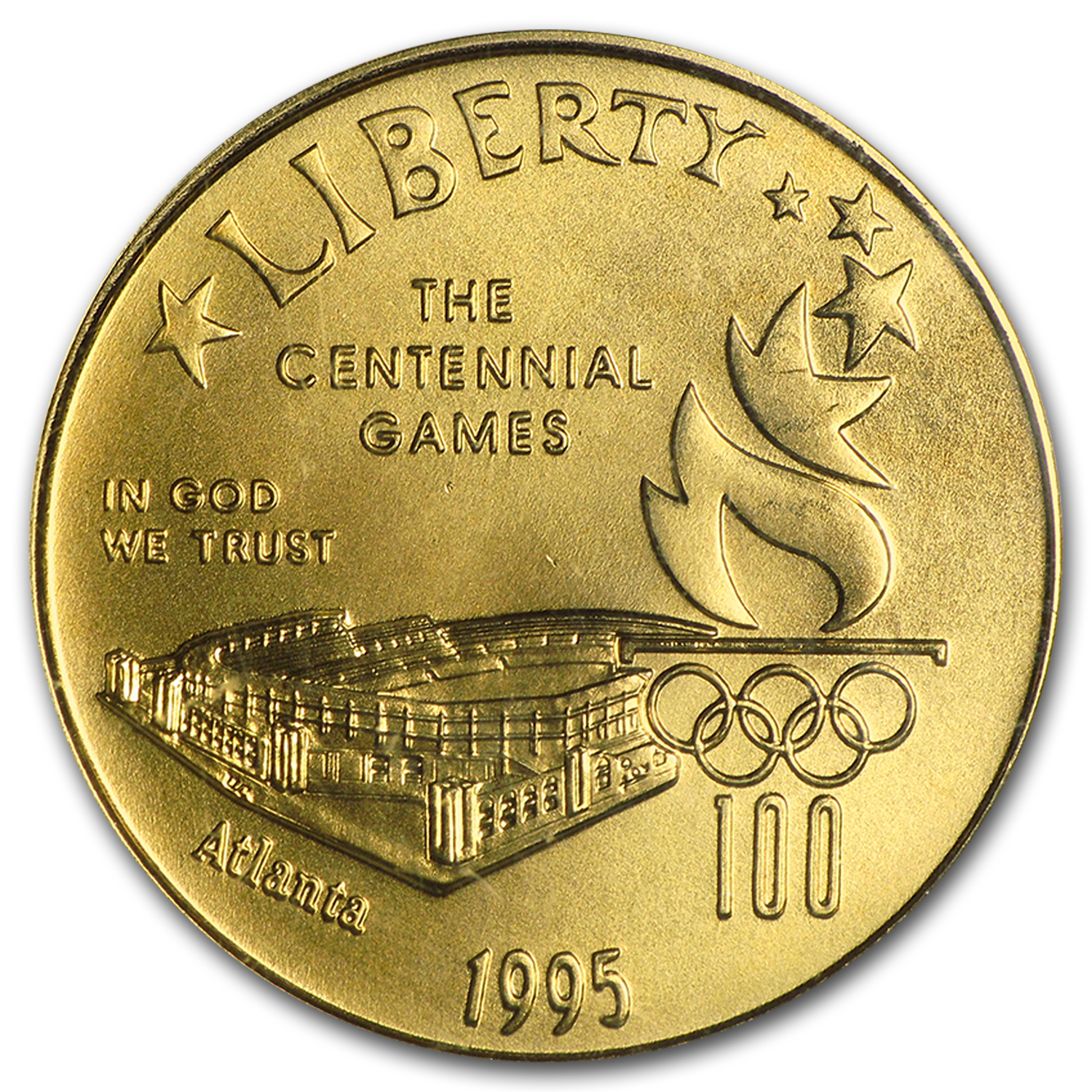 1995-W Olympic Stadium - $5 Gold Commemorative - MS-69 PCGS