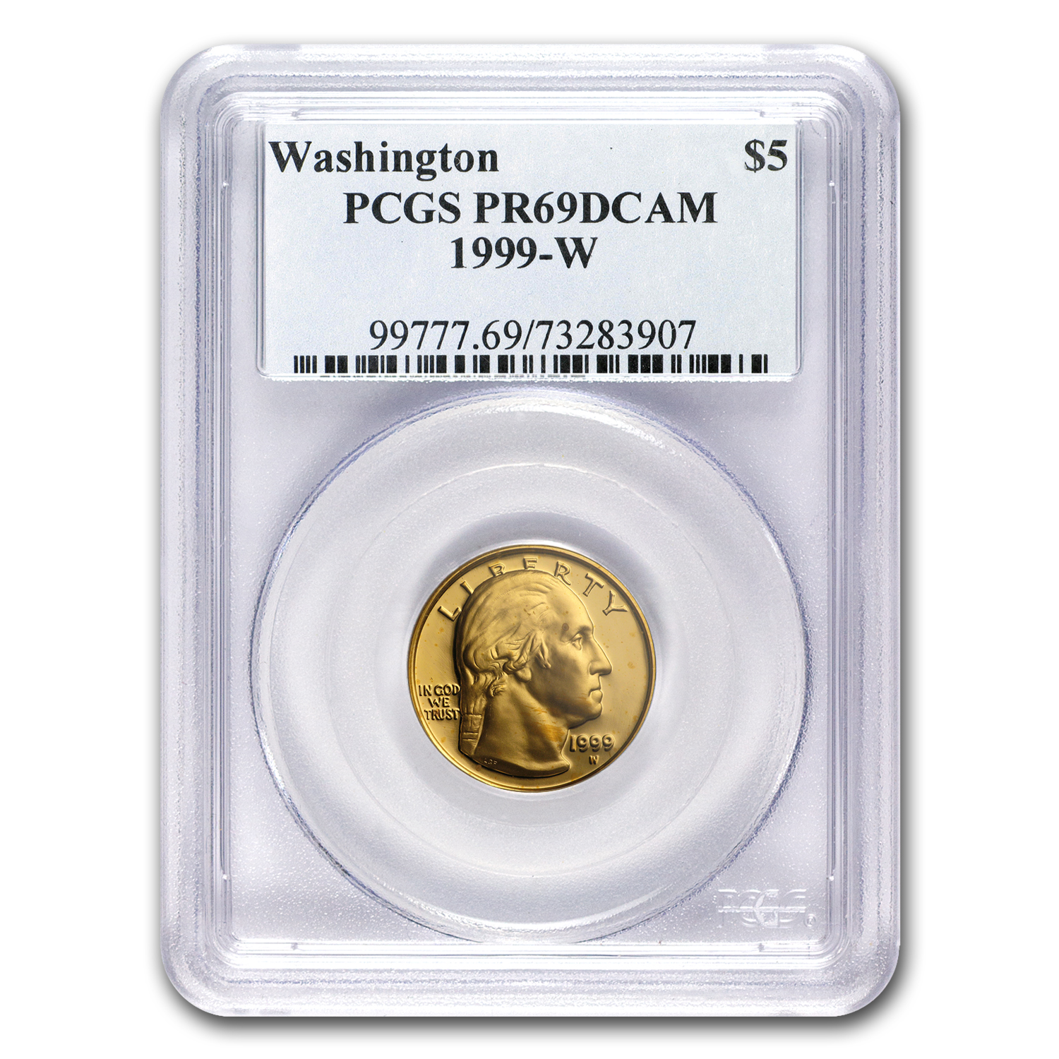 1999-W Gold $5 Commem George Washington PR-69 PCGS
