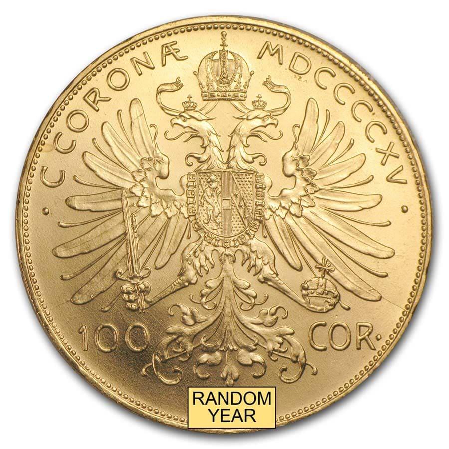 100 Corona Austrian Gold Coin Austria Gold Coronas