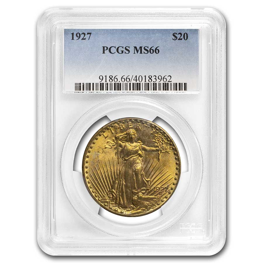 1927 $20 St. Gaudens Gold Double Eagle MS-66 PCGS