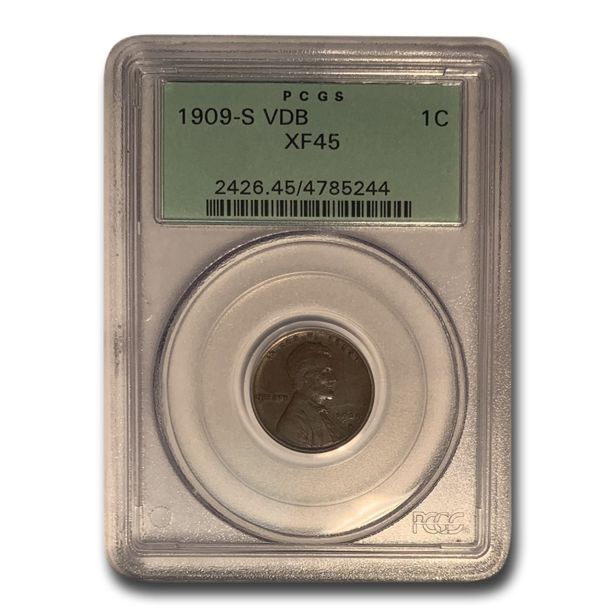 1909-S VDB Lincoln Cent XF-45 PCGS