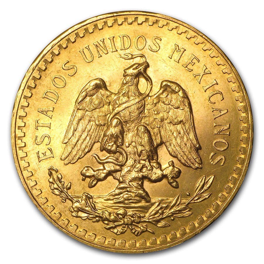 Mexico Gold 50 Pesos AGW 1.2057 (Random Year)