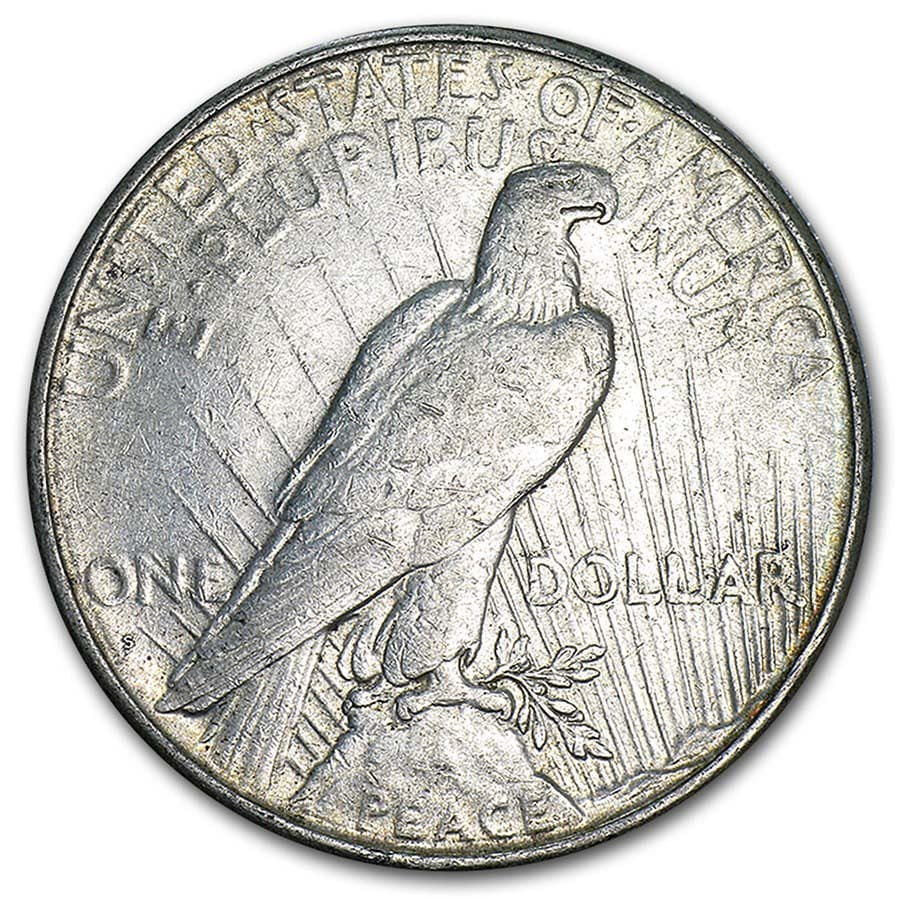 1922-1935 Peace Silver Dollars (VG - XF)