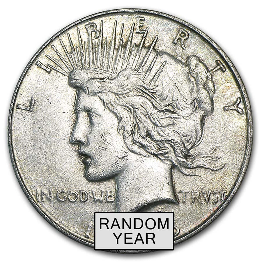 1922-1935 Peace Silver Dollars VG-XF