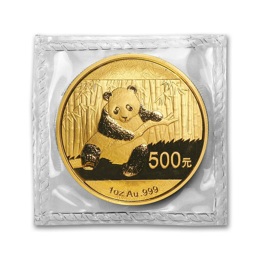 1 oz Gold Chinese Panda BU - Random Year (Sealed)