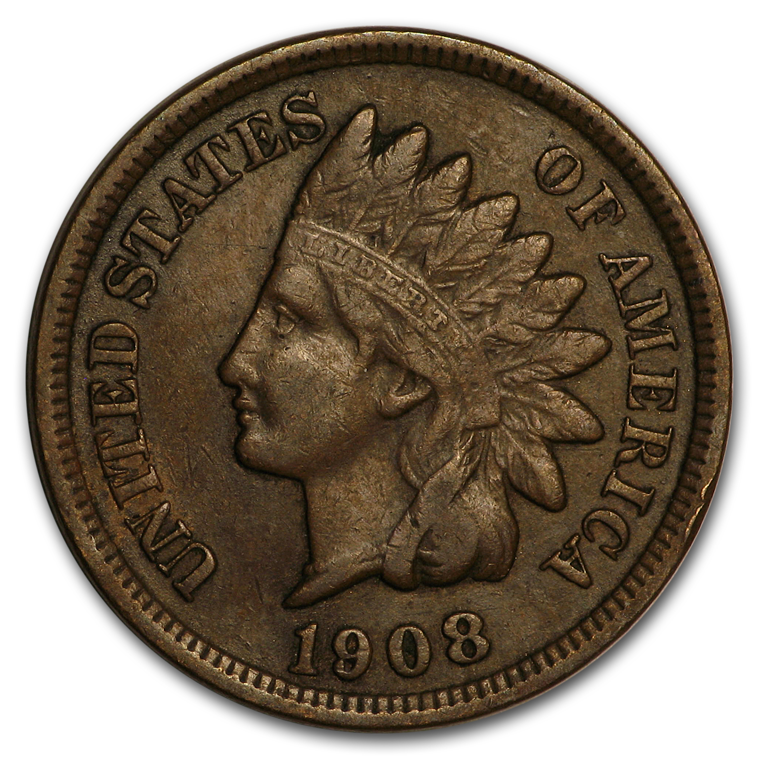 1908 Indian Head Cent XF