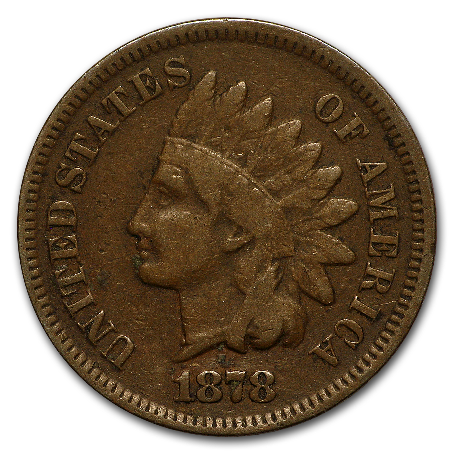 1878 Indian Head Cent VG