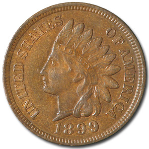 1899 Indian Head Cent XF