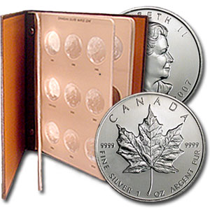 1988-2014 28-Coin Silver Canadian Maple Leaf Set BU (in Dansco)