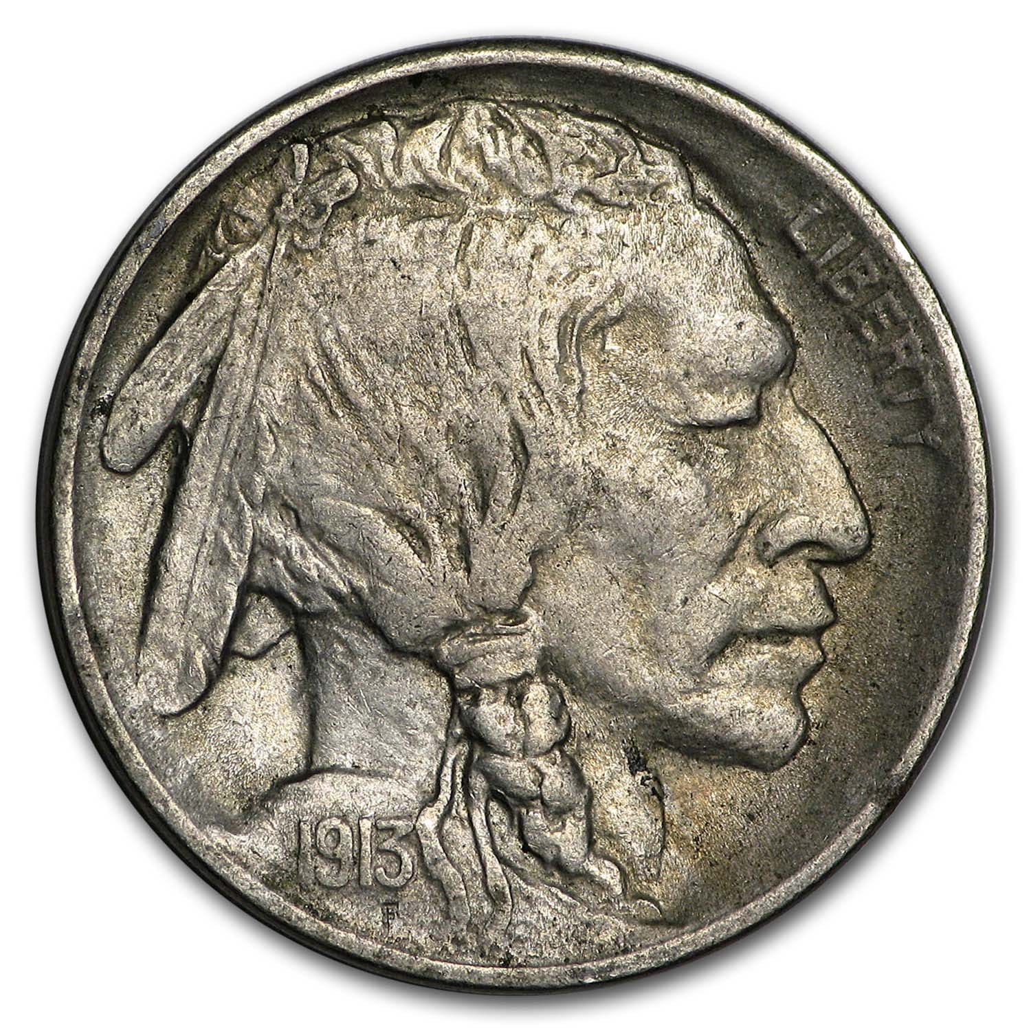 1913 Type-I Buffalo Nickel AU