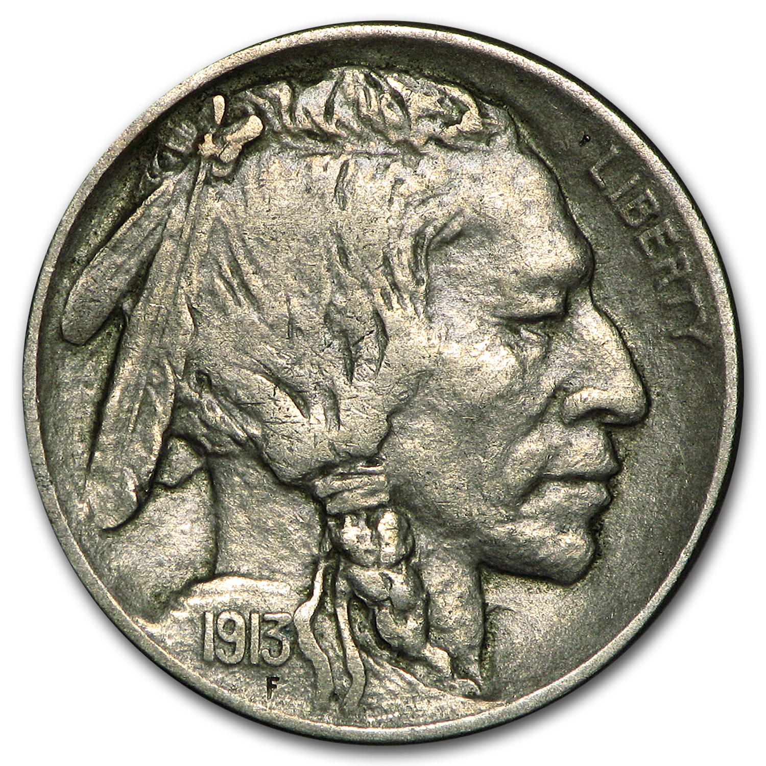 1913-D Type-II Buffalo Nickel XF