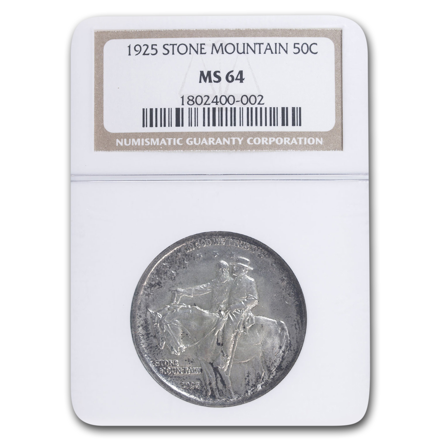 1925 Stone Mountain Memorial Half Dollar MS-64 NGC