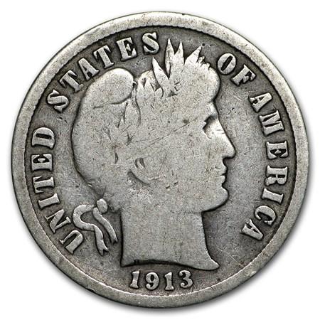 1913 S Barber Dime Vg Barber Dimes 1892 1916 Apmex