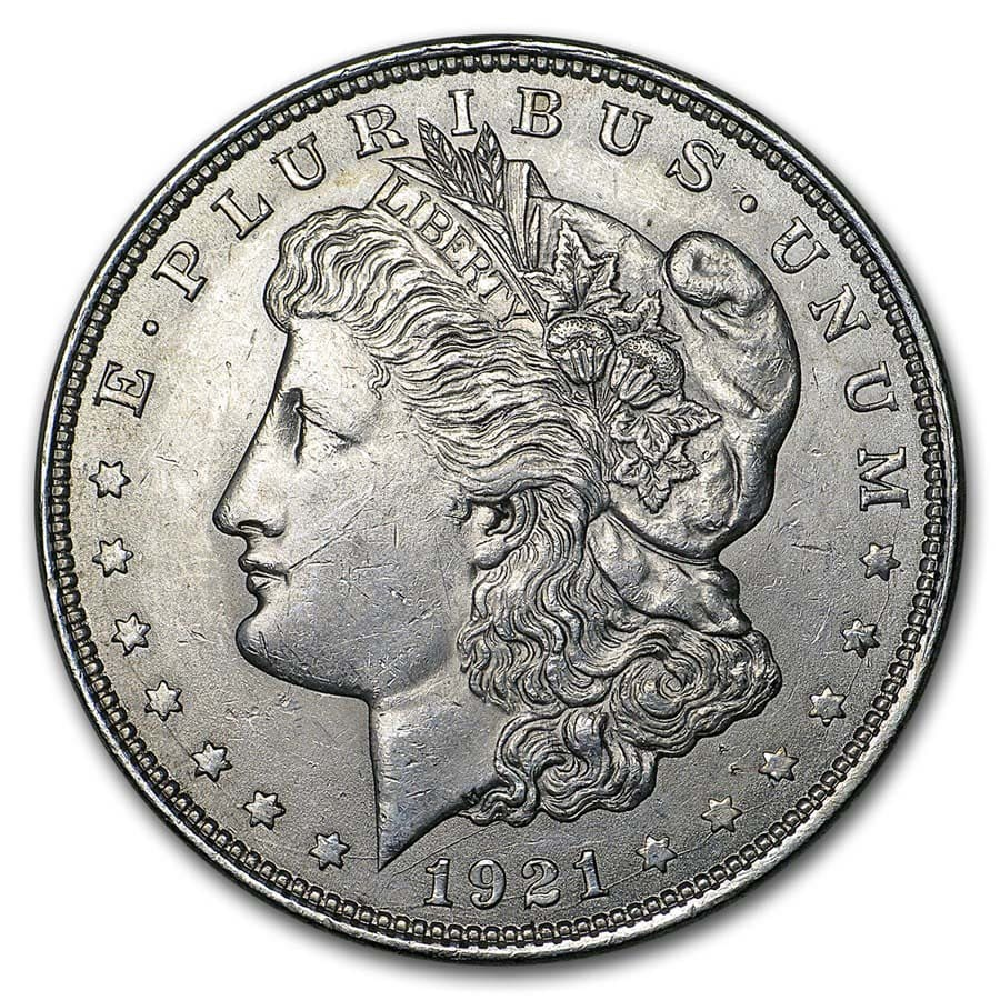 1921 Morgan Silver Dollar BU