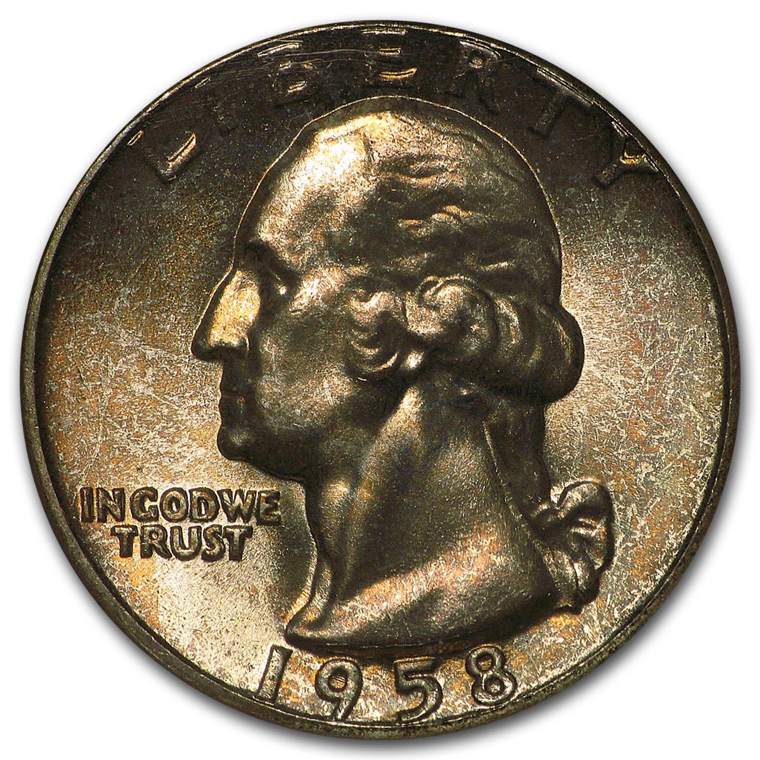 1958 Washington Quarter MS-67 NGC (Toned)