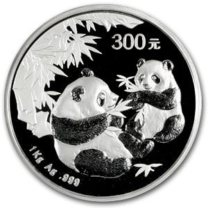 2006 (Kilo Proof) Silver Chinese Panda (W/Box & Coa)