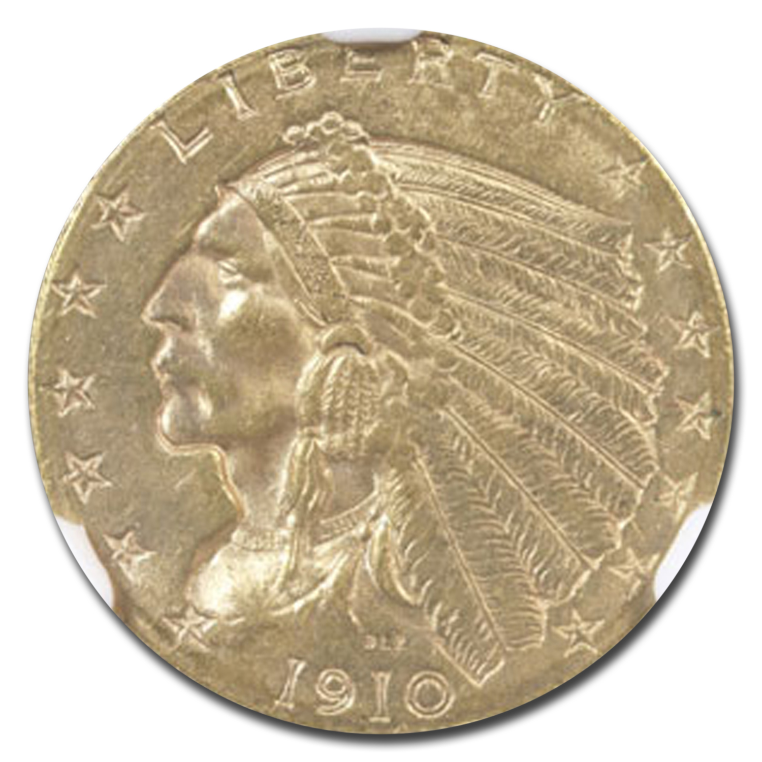 1910 $2.50 Indian Gold Quarter Eagle MS-64 NGC