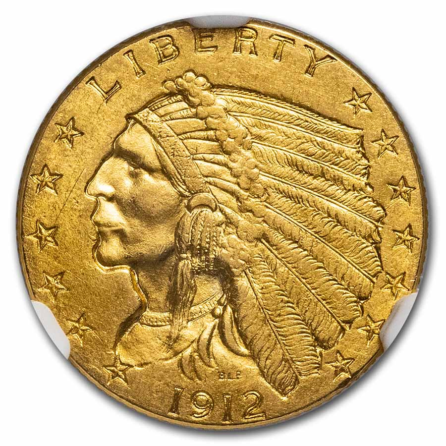 1912 $2.50 Indian Gold Quarter Eagle - MS-63 NGC