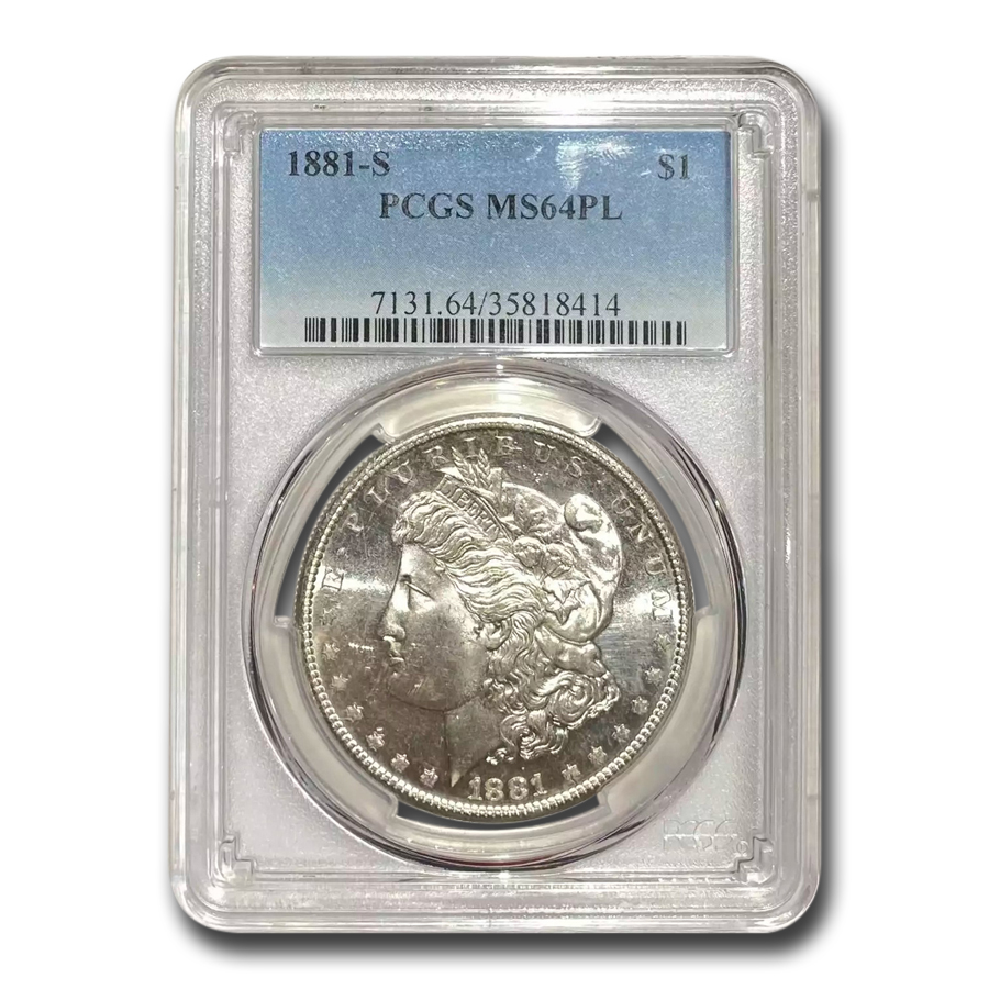 1881-S Morgan Dollar - MS-64 PL Proof Like PCGS