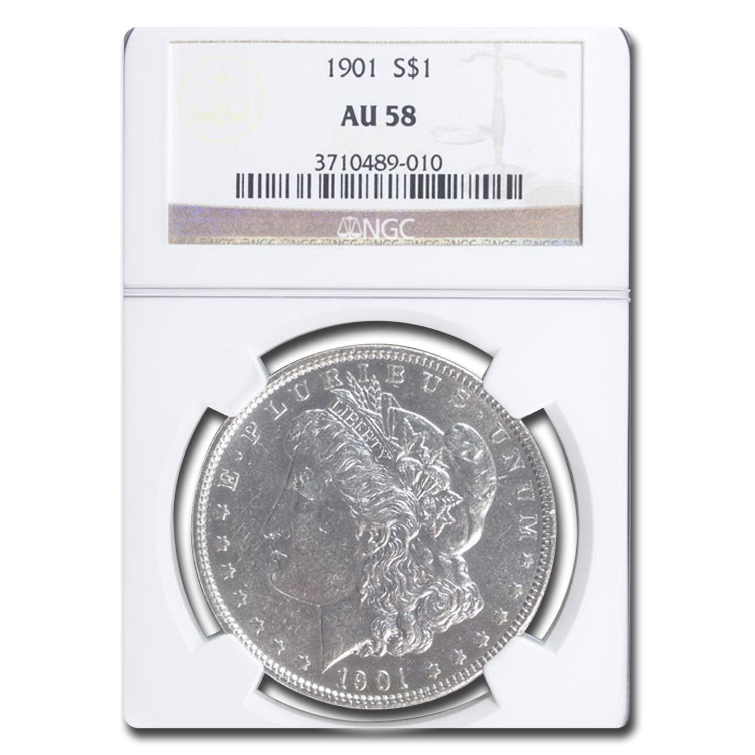 1901 Morgan Dollar AU-58 NGC