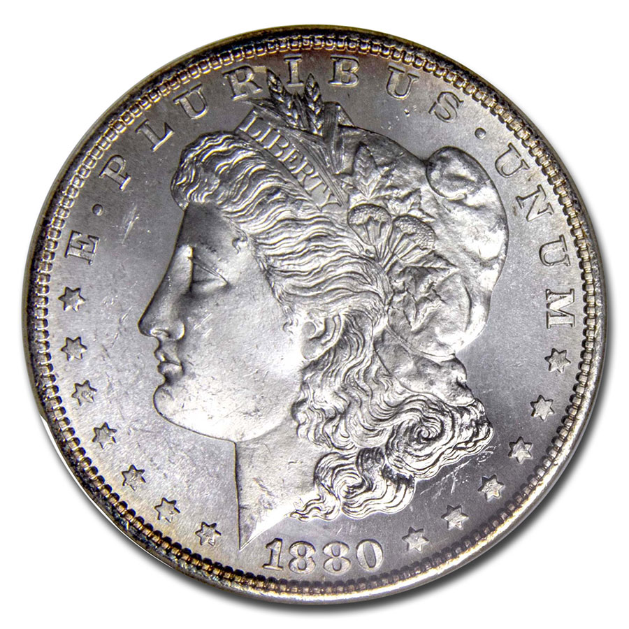 1880-S Morgan Dollar MS-64 PL NGC