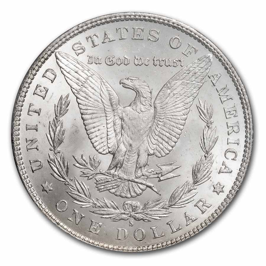 1880/9-S Morgan Dollar - MS-65 PCGS