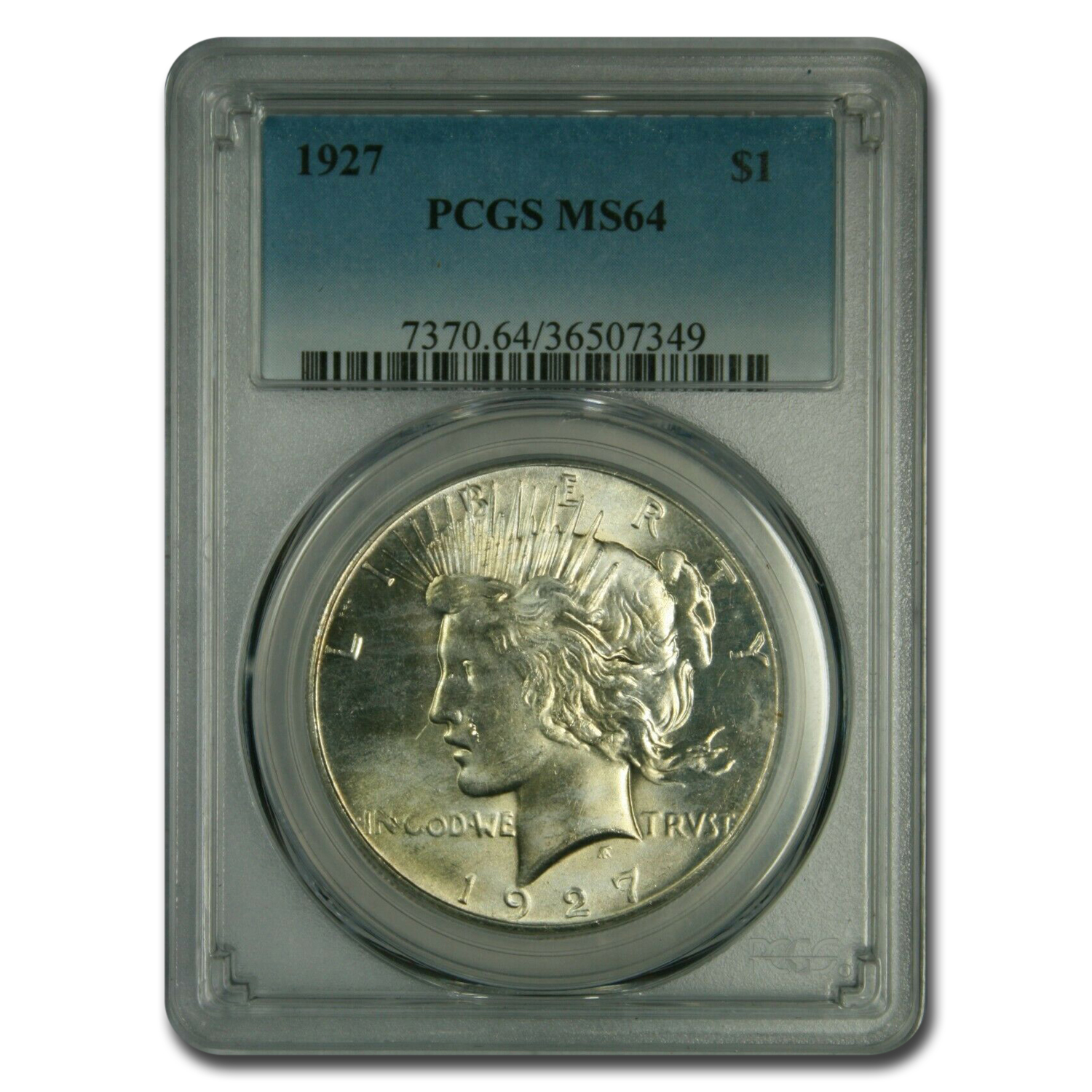 1927 Peace Dollar MS-64 PCGS