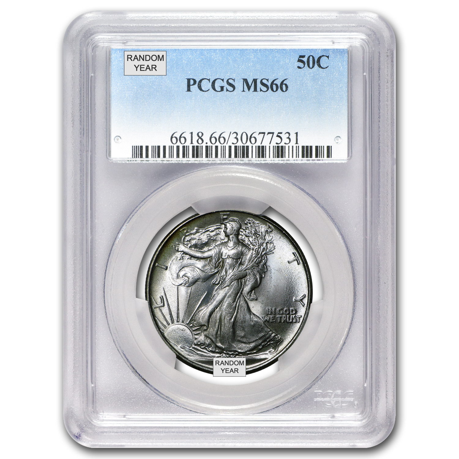 1940-1947 Walking Liberty Half-Dollar MS-66 PCGS (Random)