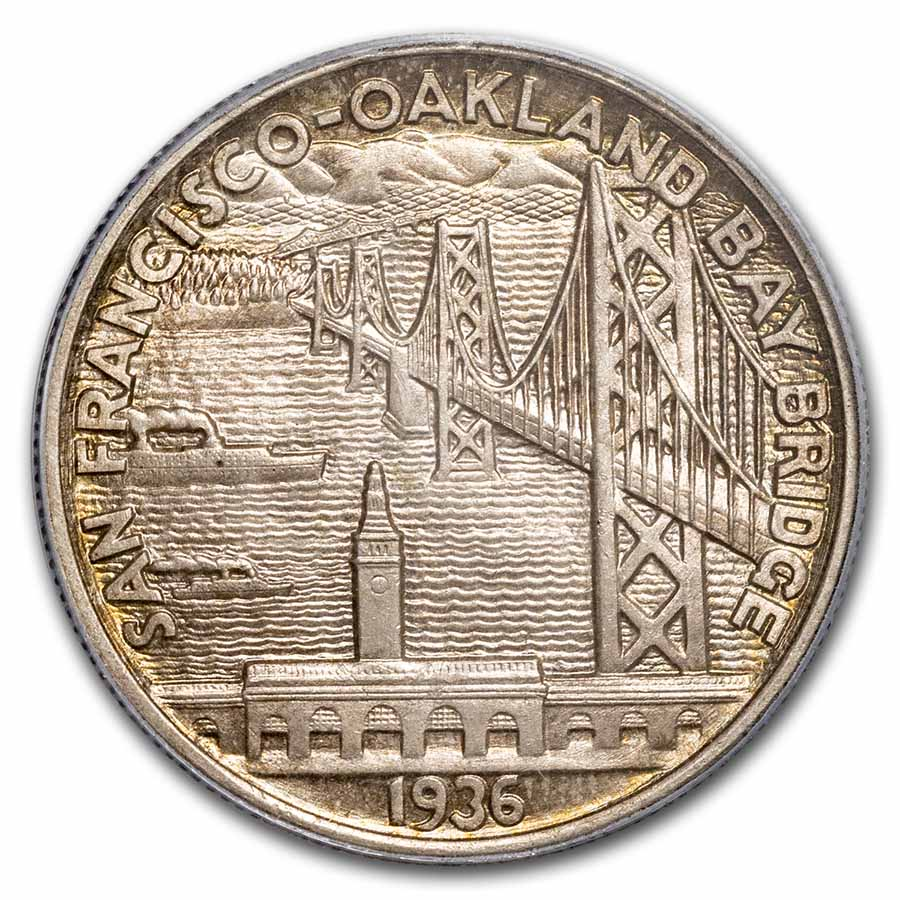 1936-S San Francisco-Oakland Bay Bridge Half Dollar MS-65 PCGS