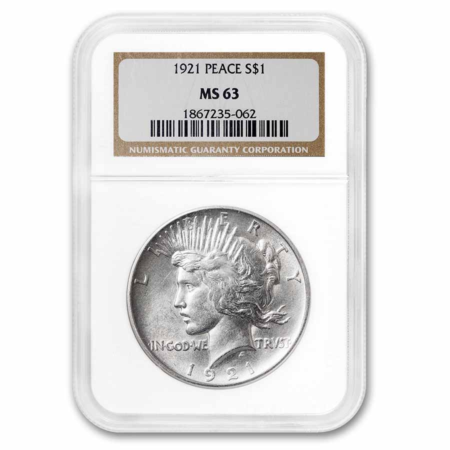 1921 Peace Dollar MS-63 NGC
