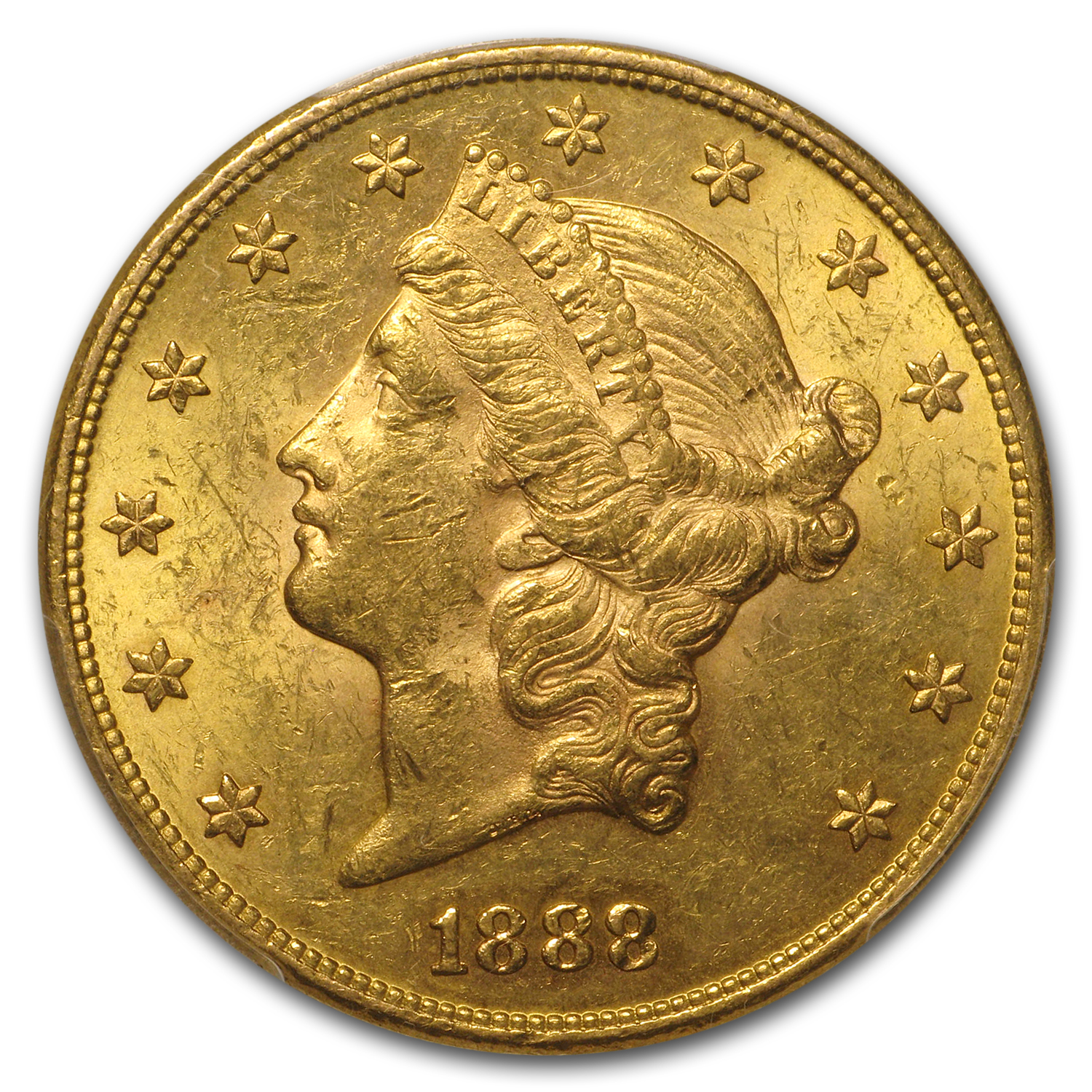 1888 $20 Liberty Gold Double Eagle MS-61 PCGS