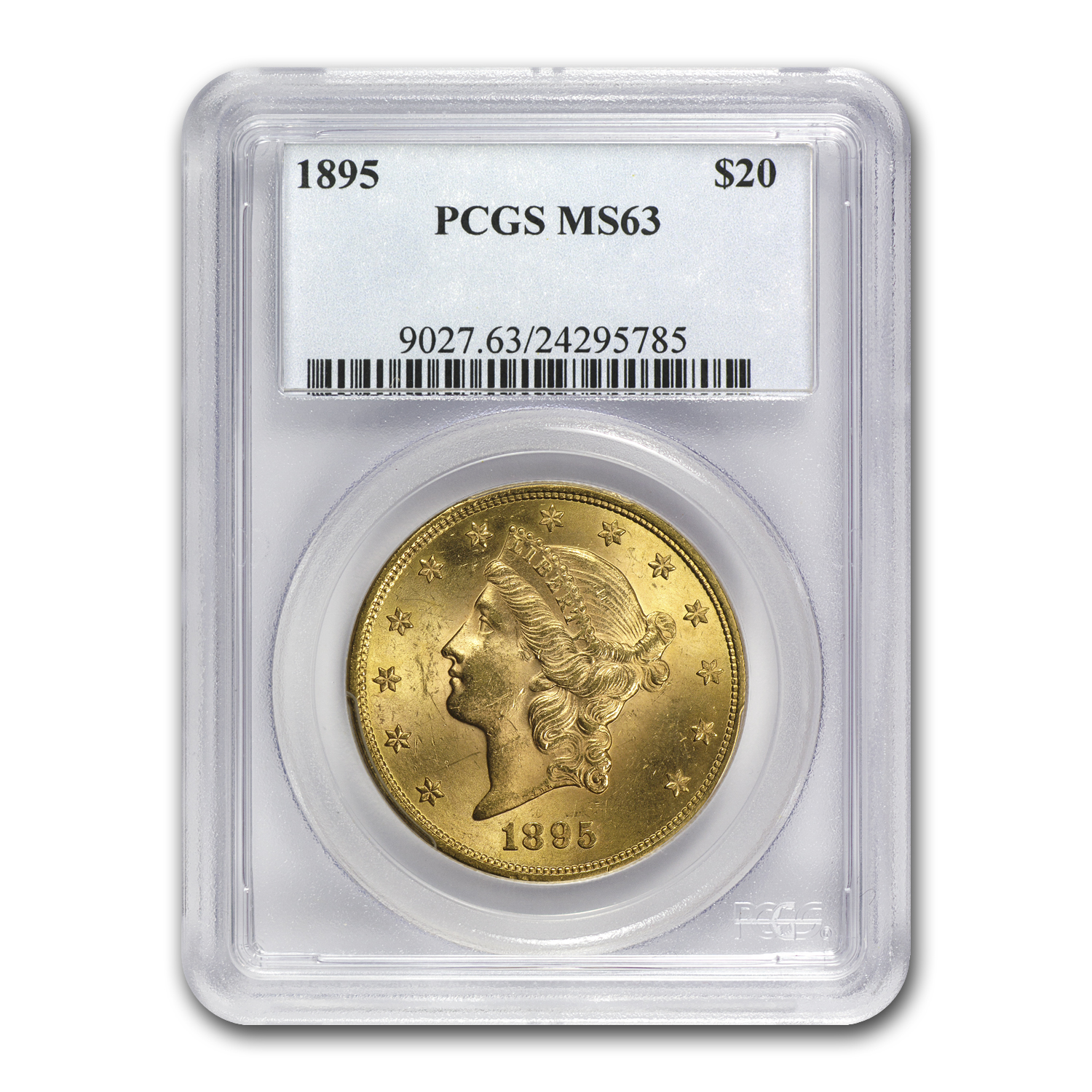 1895 $20 Gold Liberty Double Eagle MS-63 PCGS