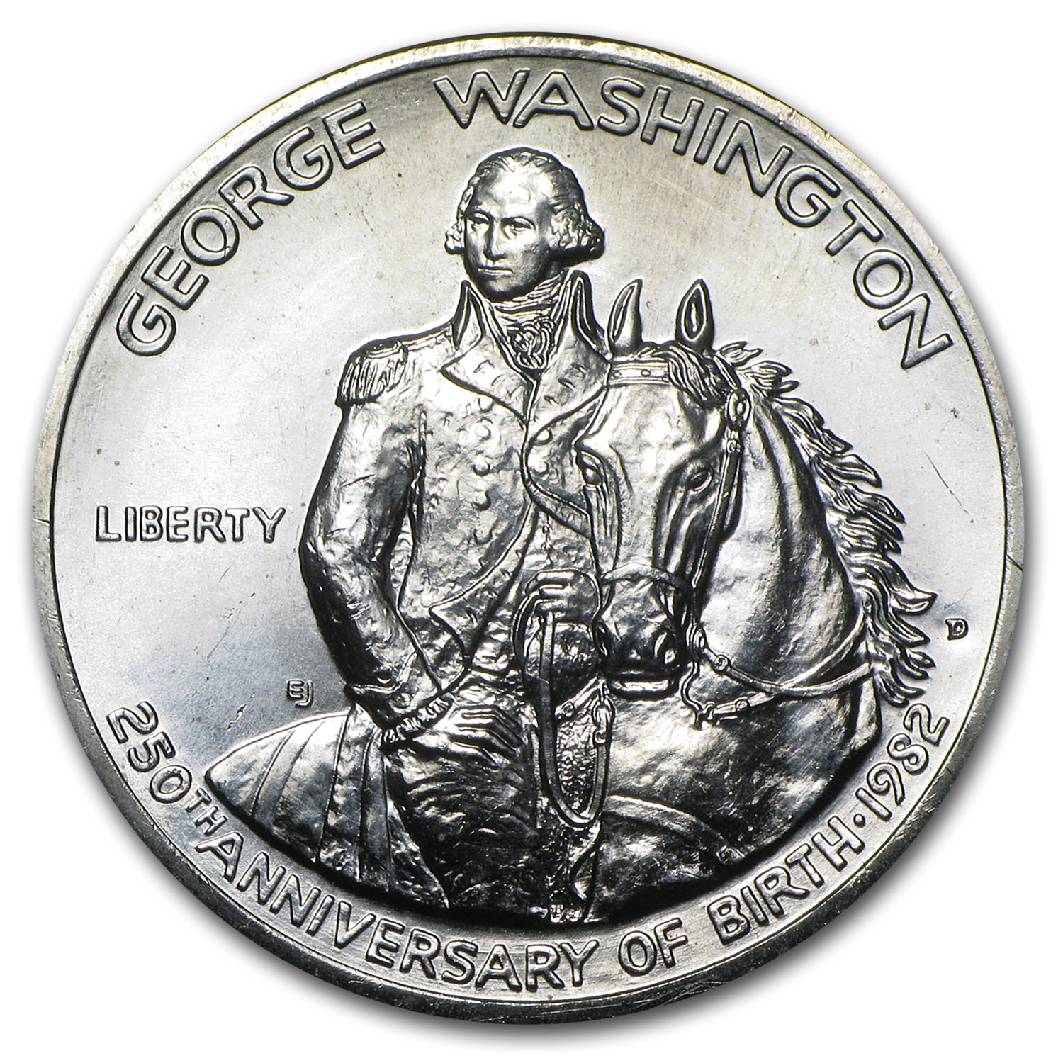 1982 Washington Half-Dollar 90% Silver Commemorative (Prf or Unc)