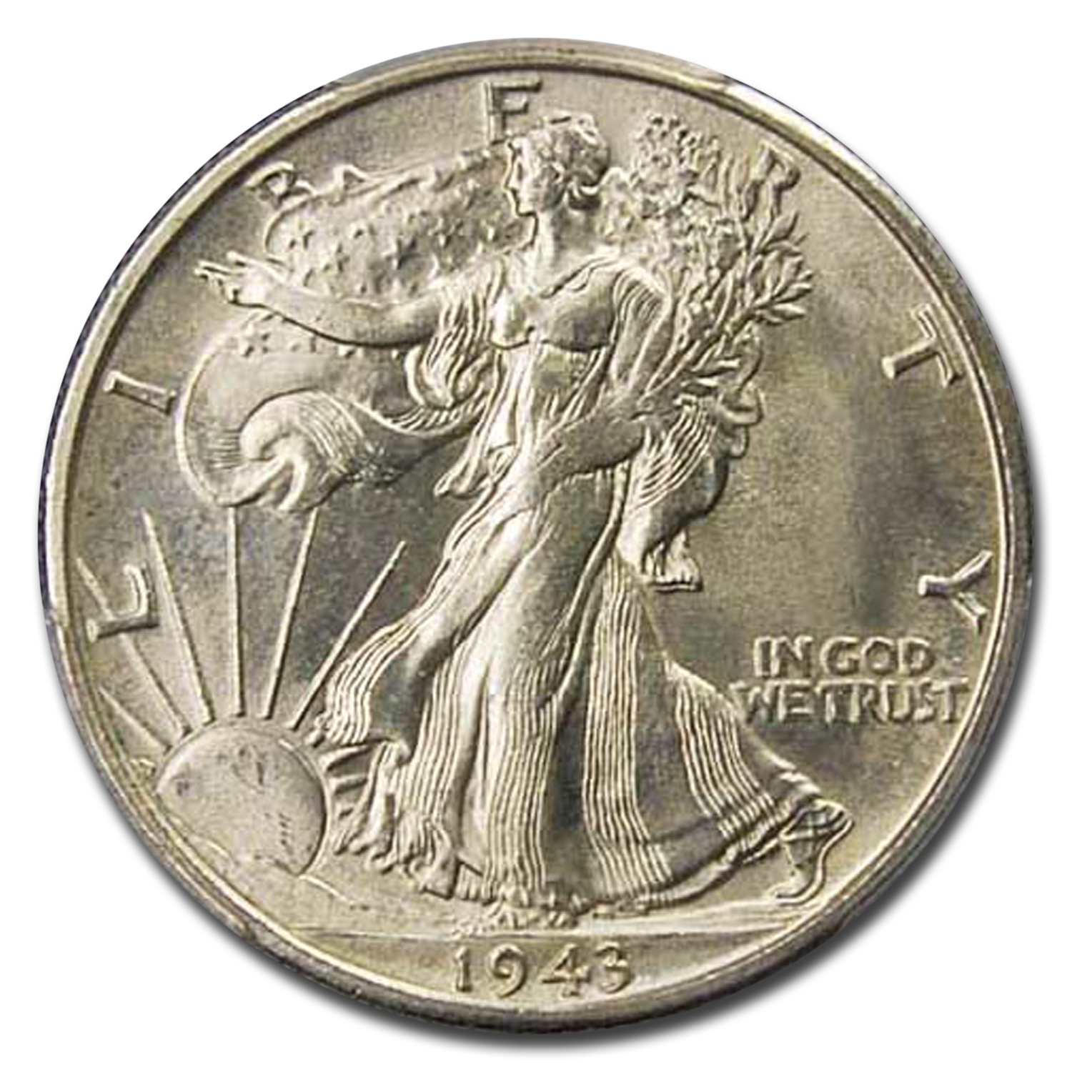 1943-S Walking Liberty Half Dollar MS-65 PCGS