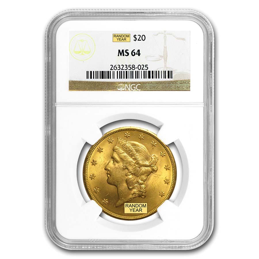 $20 Gold Liberty Double Eagle MS-64 NGC