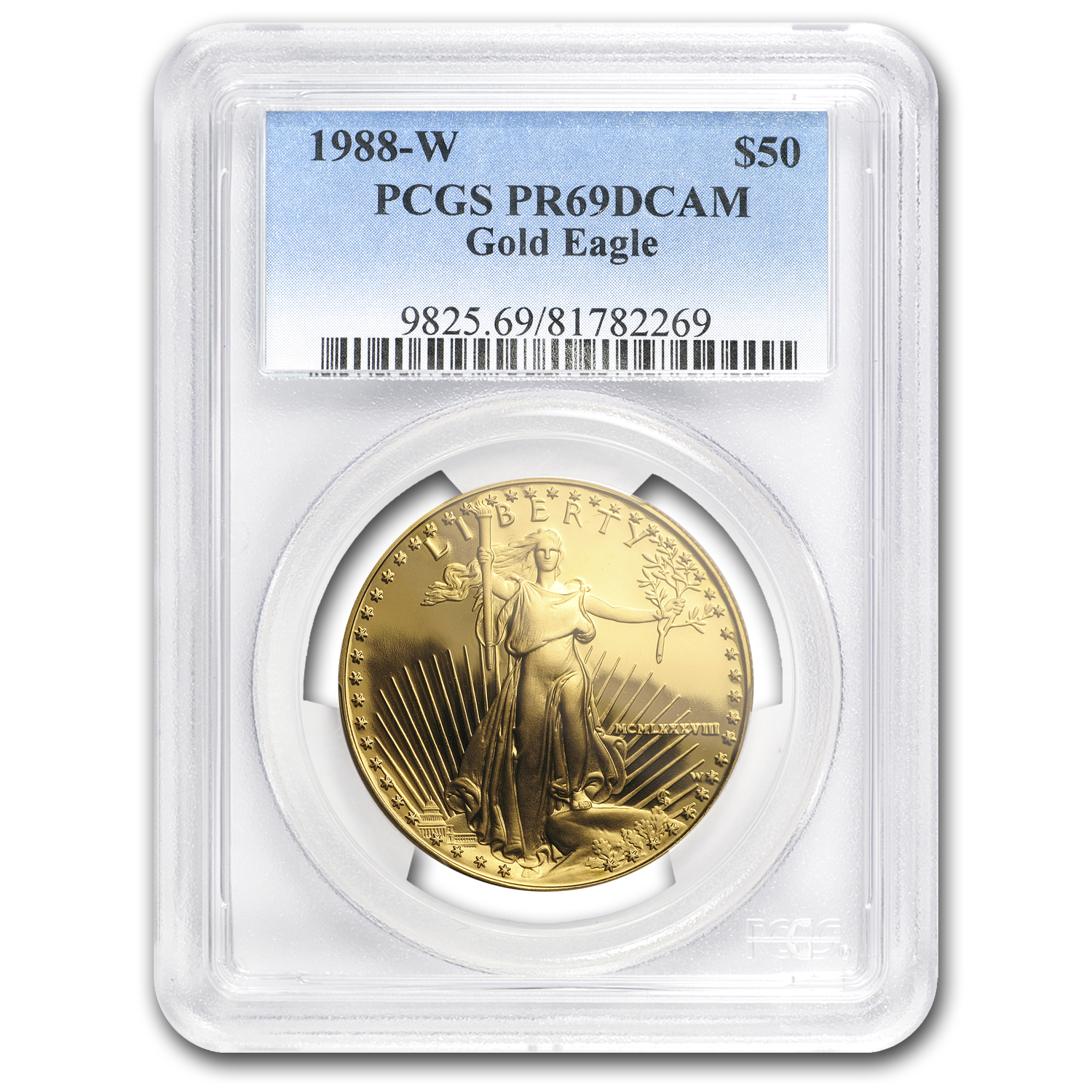 1988-W 1 oz Proof Gold American Eagle PR-69 PCGS