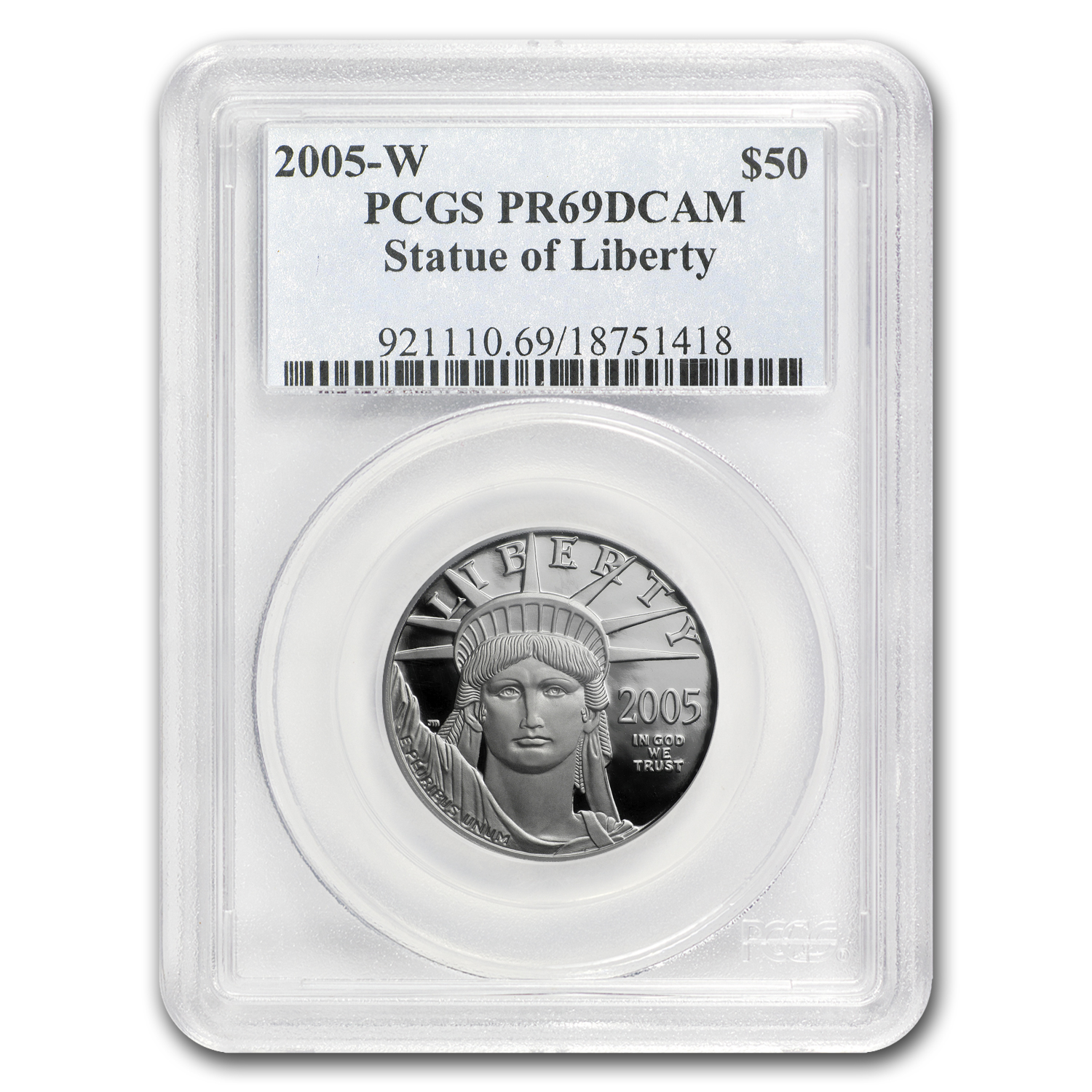 2005-W 1/2 oz Proof Platinum American Eagle PR-69 PCGS