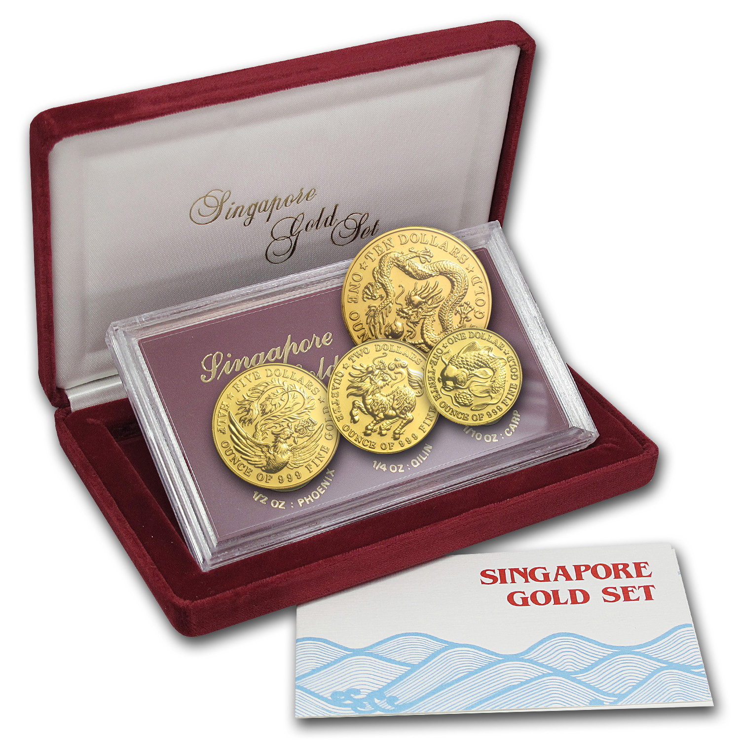 1984 Singapore 4-Coin Gold Set BU