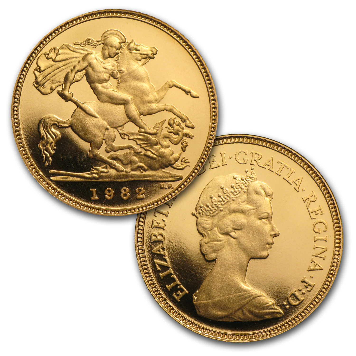 Great Britain 1982 4 Coin Gold Proof Set