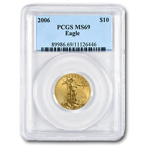 2006 1/4 oz Gold American Eagle MS-69 PCGS