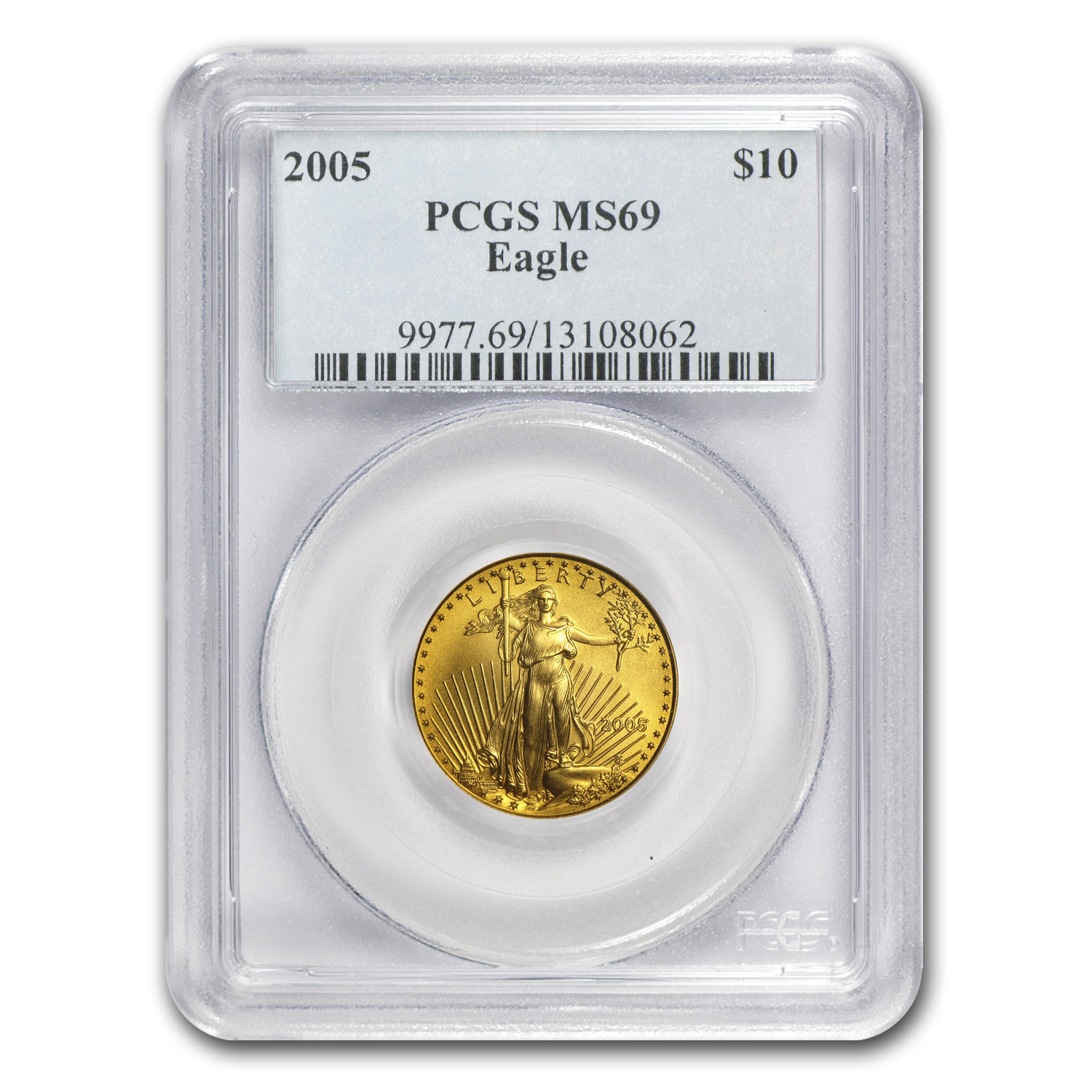 2005 1/4 oz Gold American Eagle MS-69 PCGS