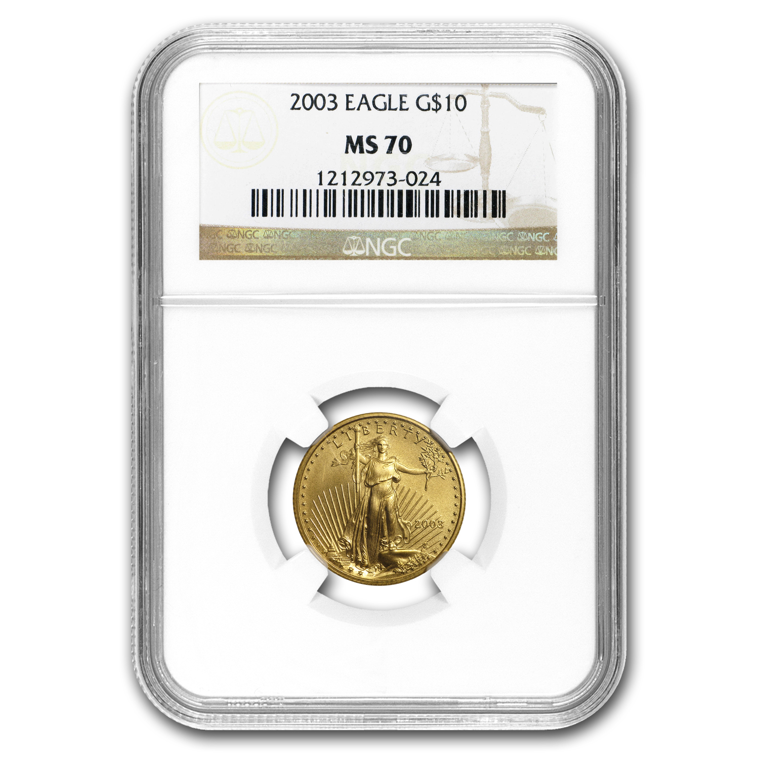 2003 1/4 oz Gold American Eagle MS-70 NGC