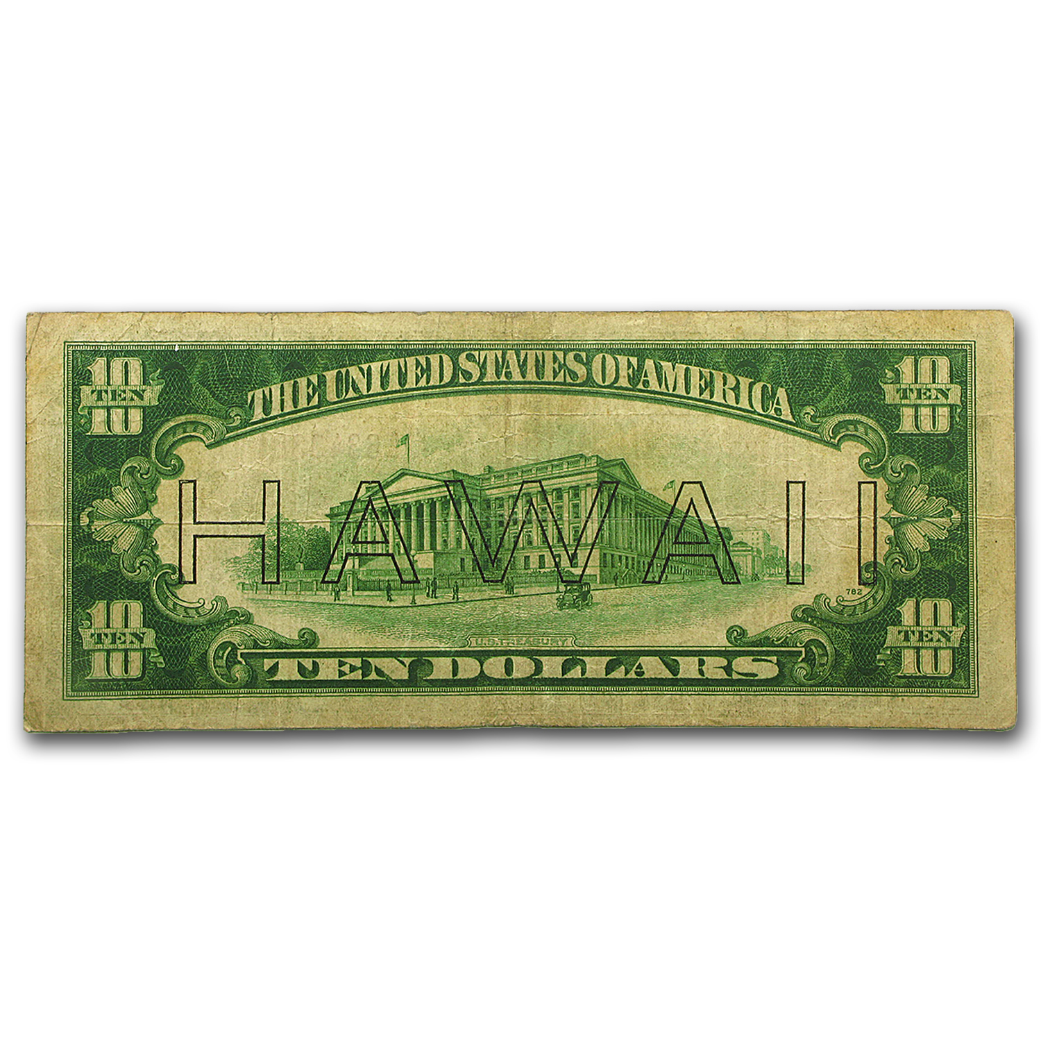 1934-A $10 FRN - Brown Seal (HAWAII) - Very Good