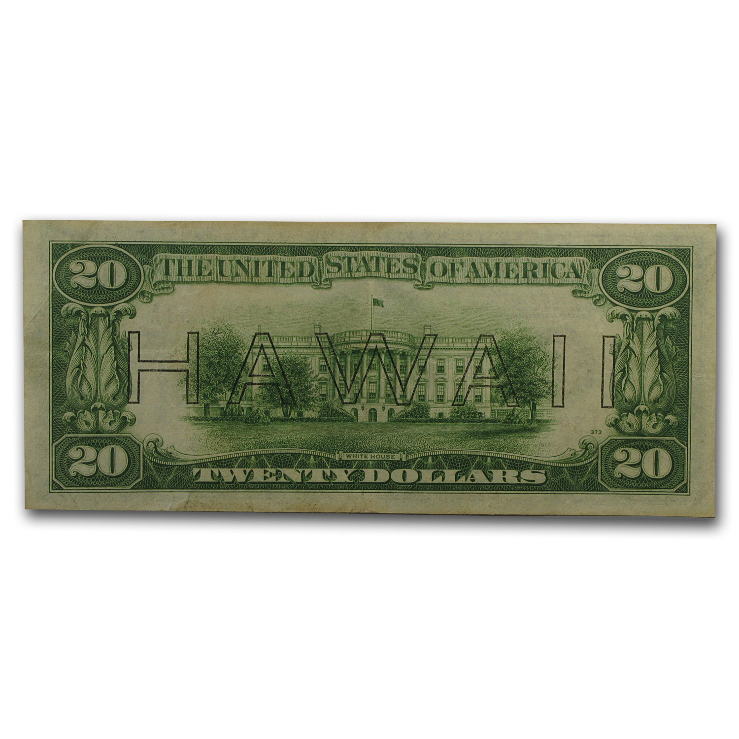 1934-A $20 Brown Seal Hawaii VF